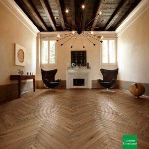 Atelier Heritage 90 italienischer Fischgrät 90° Filigrana Firenze 1565 Eiche angeräuchert, oleonature